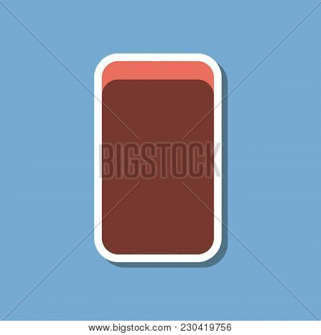 Paper Sticker On Stylish Background Of Eraser