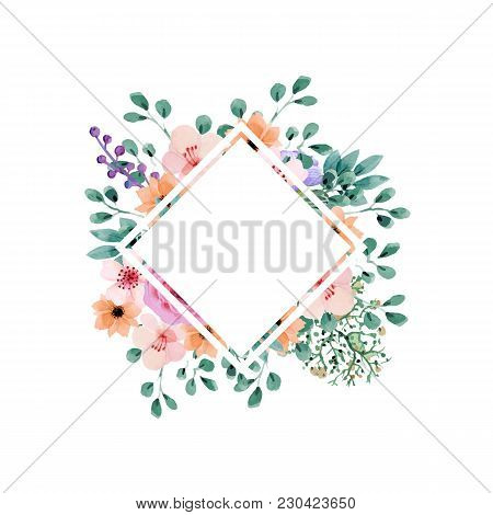 Flower Bouquet Floral Bunch Vector Boho Design Object Element. Peach Creamy Pale Pink Anemone Poppy