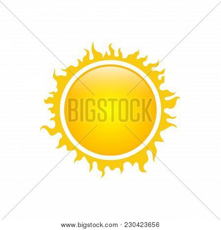 Sun Vector Isolated Summer Icon Design. Vector Yellow Sun Symbol. Vector Sun Sun Element. Sun Weathe
