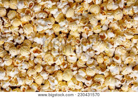 Fresh Inviting Popcorn And Only He In The Frame.