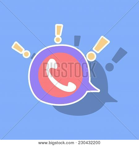 Sticker Viber Flat Icon. Vector Illustration. Element Template For Design.