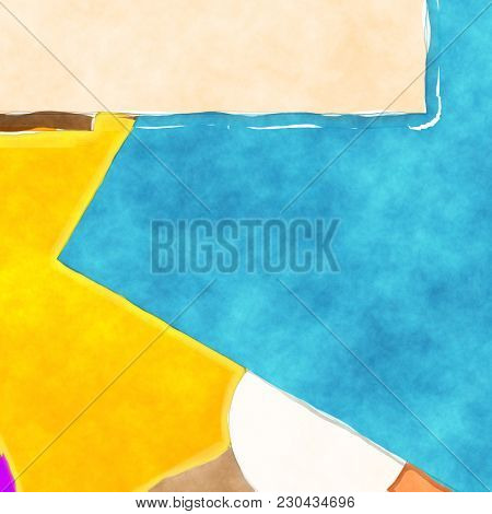 Illustration of an abstract watercolor painting background