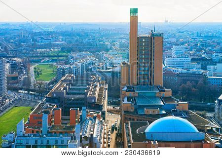 Panoramic View On Potsdamer Platz And The Downtown In Berlin, Germany