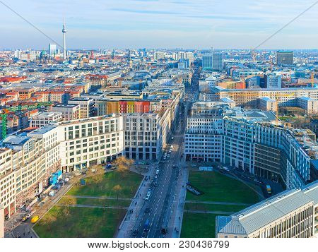 Panoramic View On Potsdamer Platz And The Downtown, Berlin, Germany