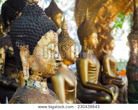 Buddha Statue In Bangkok, Thailand. Generally In Thailand, Any Kinds Of Decorated In Buddhist Church
