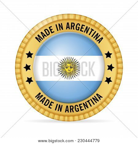 Icon Made In Argentina On A White Background.