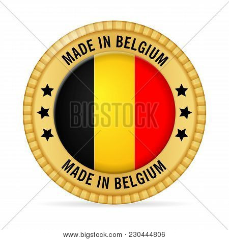 Icon Made In Belgium On A White Background.