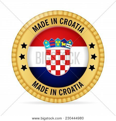 Icon Made In Croatia On A White Background.