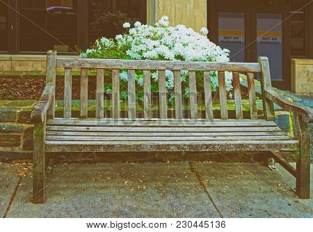 Washington Dc, Usa - May 2, 2015: Bench Can Be Found In The George Washington University Campus In W