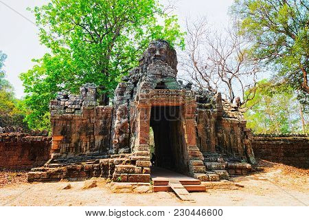 Ruins Of Banteay Kdei Temple Complex In Siem Reap, Cambodia.