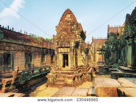 Banteay Samre Temple Complex At Angkor, Siem Reap, Cambodia.