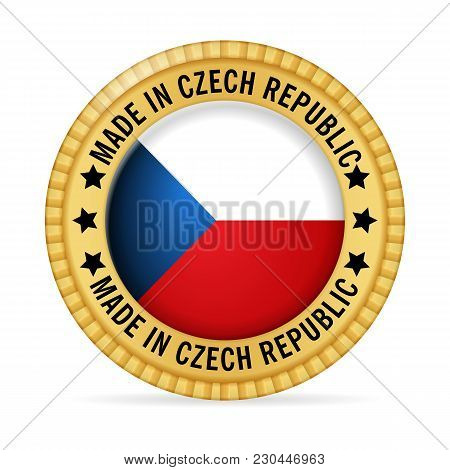 Icon Made In Czech Republic On A White Background.