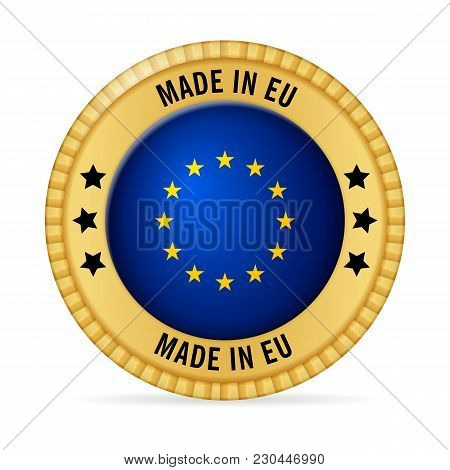 Icon Made In Eu On A White Background.