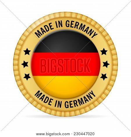 Icon Made In Germany On A White Background.