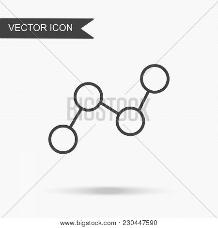 Modern And Simple Vector Illustration Of A Graph Icon. Flat Image With Thin Lines For Application, W