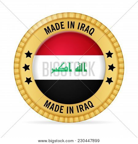 Icon Made In Iraq On A White Background.