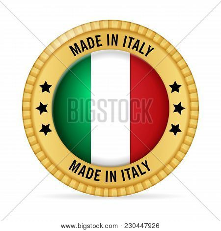 Icon Made In Italy On A White Background.