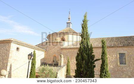 Collegiate Church In Belmonte, A Village Located In The Province Of Cuenca, Castile-la Mancha, Spain
