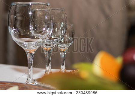 Served Table In A Cafe Or Restaurant For A Holiday Close-up