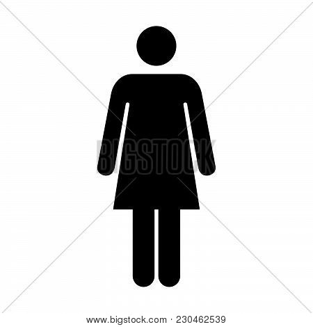 Woman Icon Vector Female Symbol Of Business Person Sign In Glyph Pictogram Illustration