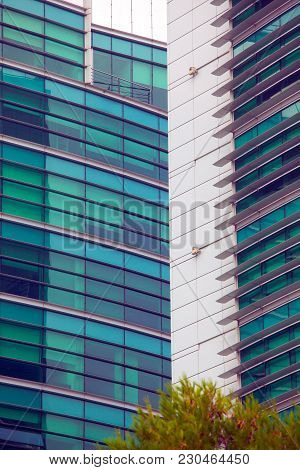 Detail Of Windows In A Modern Building . Business Background
