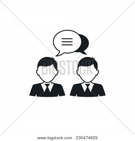 Businessman Speech Bubble Icon, Vector Isolated Illustration.
