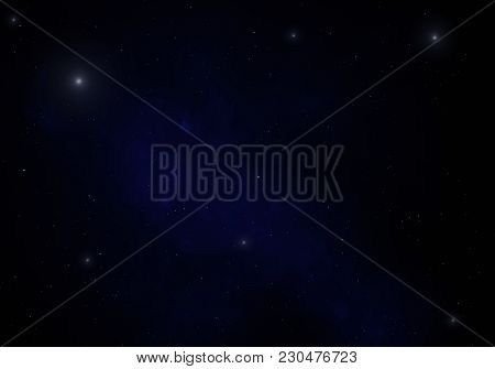 Deep Space Background With Stardust And Shining Stars. Milky Way Cosmic Background.