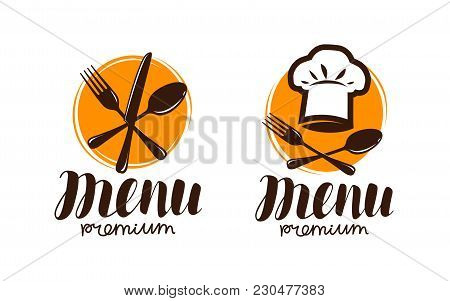 Restaurant Menu, Logo Or Label. Cooking, Cuisine Concept. Vector Illustration Isolated On White Back