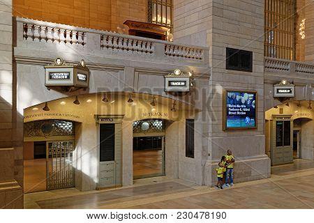 New York City, Usa, September 10, 2017 : Grand Central Terminal (also Referred To Simply As Grand Ce
