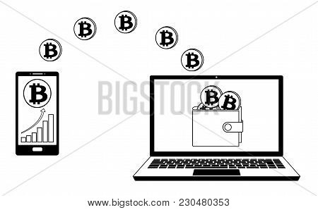 Transfer Bitcoin From Phone To Wallet On The Laptop, Transfer Crypto Currensy In The Wallet,buying B