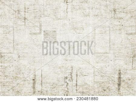 Old Newspaper Grunge Texture Background. Blurred Vintage Newspaper Background. Scratched Paper Textu