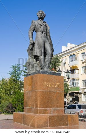 A Monument To The Poet Pushkin In Rostov-na-donu