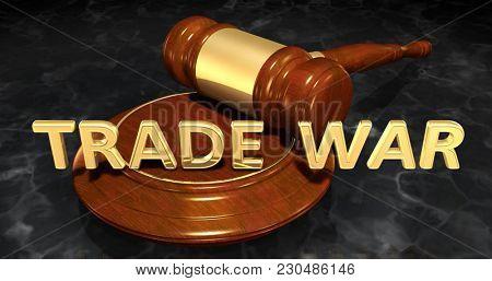 Trade War Concept 3D Illustration