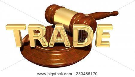 Trade Concept 3D Illustration
