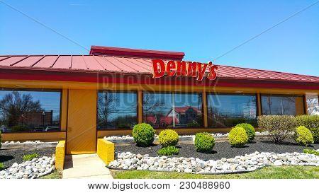 Dennys Restaurant And American Diner In The United States Photo - Philadelphia Pennsylvania - April