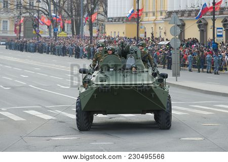 Saint Petersburg, Russia - May 09, 2017: Btr-82a On The Parade In Honor Of The Victory Day