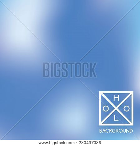 Blue Background. Sparkly Cover.  Abstract Neon Colors Backdrop.  Trendy Creative Vector Cosmic Gradi