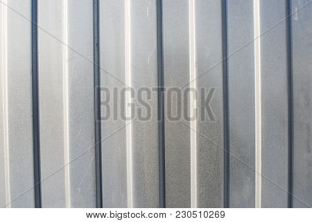 Corrugated Metal Texture. Backgroound. Material For Roofing The House.