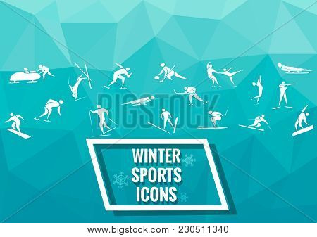 New Sports Icons And Sports Symbols, Winter Sports