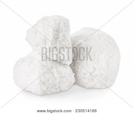 Lumps Of Salt Isolated On White Background