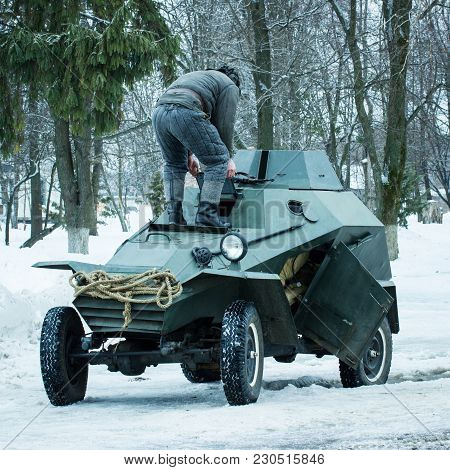 Small Soviet Armored Car For Reconnaissance Times Of The Second World War