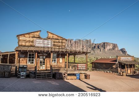 Goldfield, Arizona, Usa - May 17, 2016 : Store And Bakery In Goldfield Ghost Town. Goldfield, Later