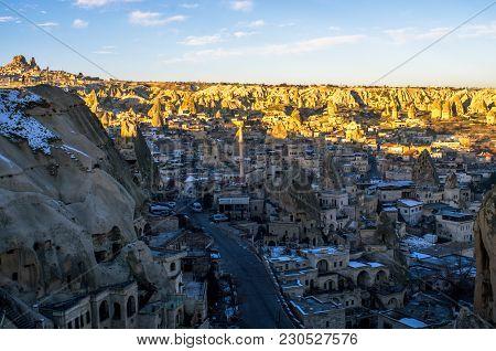 The Unique City Of Goreme In Cappadocia, Turkey