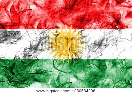 Kurdistan Smoke Flag, Iraq Dependent Territory Flag
