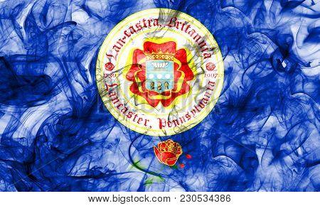 Lancaster City Smoke Flag, Pennsylvania State, United States Of America