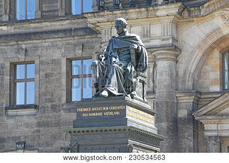 Dresden, Great Britain - April 27, 2012: It Is A Monument To Frederick Augustus I, Saxon King, Who R