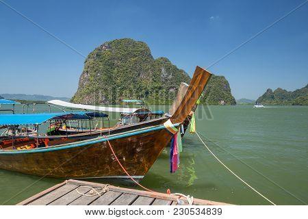 Longtail Thai Boats At Ko Panyi (koh Panyee) Village