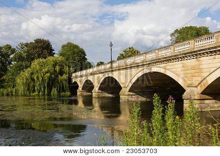 Serpentine Bridge in Hyde Park, London, UK