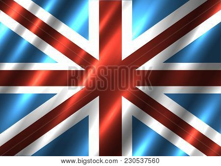 Great Britain National Flag Background. G8 Country United Kingdom Standard Banner Backdrop. Easy To