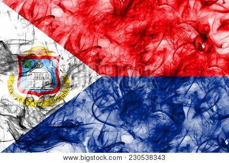 Sint Maarten Smoke Flag, Netherlands Dependent Territory Flag